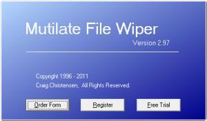 Enlarge Mutilate File Wiper Screenshot