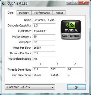 Enlarge CUDA-Z Screenshot