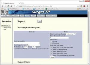 Enlarge SurgeFTP Screenshot