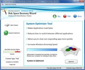 Enlarge Disk Space Recovery Wizard Screenshot
