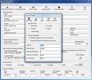 Enlarge Payment Book Screenshot