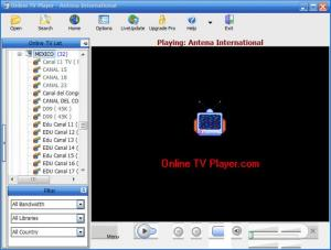 Enlarge Online TV Player Screenshot