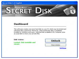 Enlarge Secret Disk Screenshot