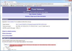 Enlarge Total Validator Screenshot