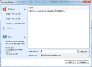 Enlarge Inspyder Web2Disk Screenshot