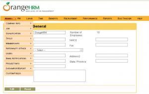 Enlarge OrangeHRM Screenshot