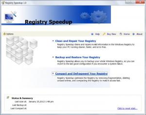 Enlarge Registry Speedup Screenshot