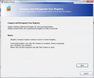 Enlarge Registry Speedup Screenshot