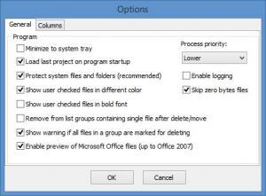 Enlarge Fast Duplicate File Finder Screenshot
