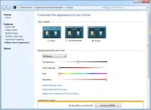 Enlarge Fences Screenshot