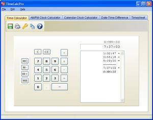 Enlarge TimeCalcPro Screenshot