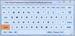 Enlarge Free Virtual Keyboard Screenshot