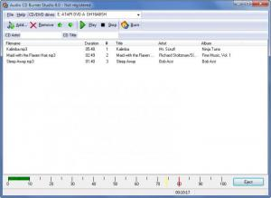 Enlarge Audio CD Burner Studio Screenshot