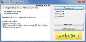 Enlarge Audio CD Burner Studio Screenshot