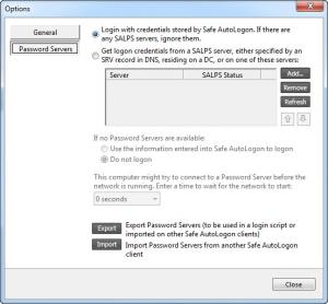 Enlarge Safe AutoLogon Screenshot