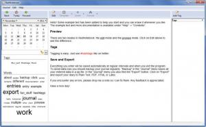 Enlarge RedNotebook Screenshot