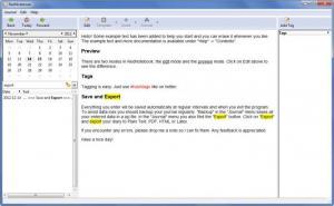 Enlarge RedNotebook Screenshot