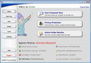 Enlarge Find Junk Files Screenshot