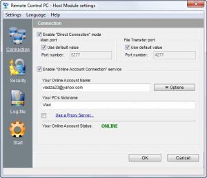 Enlarge Remote Control PC Screenshot