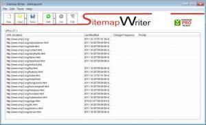 Enlarge Sitemap Writer Free Screenshot