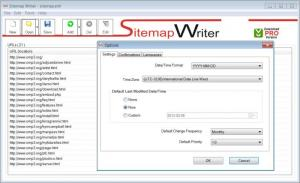 Enlarge Sitemap Writer Free Screenshot