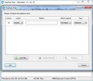 Enlarge TreeSize Professional Screenshot