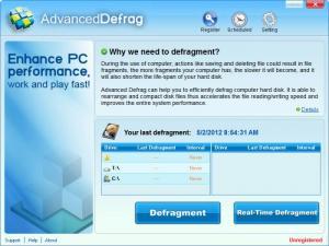 Enlarge Advanced Defrag Screenshot