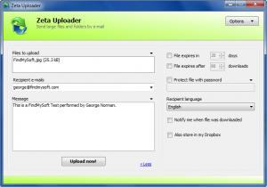 Enlarge Zeta Uploader Screenshot