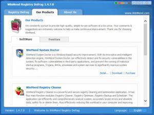 Enlarge WinMend Registry Defrag Screenshot