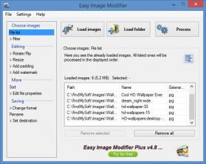 Enlarge Easy Image Modifier Screenshot