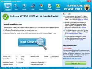 Enlarge Spyware Cease Screenshot