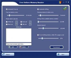 Enlarge Uniture Memory Booster Screenshot