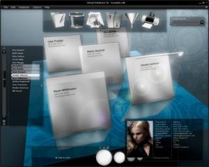 Enlarge 3D AddressBook Screenshot