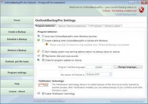 Enlarge OutlookBackupPro Screenshot
