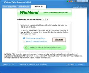 Enlarge WinMend Auto Shutdown Screenshot