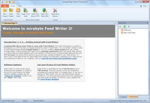 Enlarge Feed Writer Screenshot