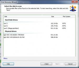 Enlarge NTFS Recovery Wizard Screenshot