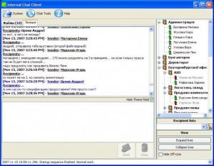Enlarge Internal Chat Client Screenshot